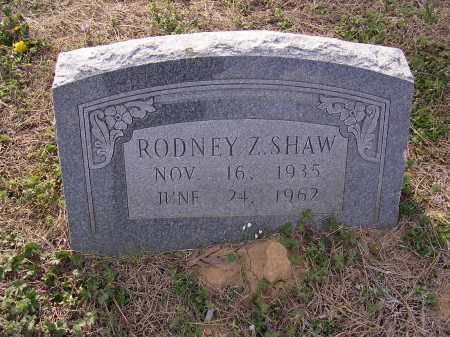 SHAW, RODNEY Z - Cross County, Arkansas | RODNEY Z SHAW - Arkansas Gravestone Photos