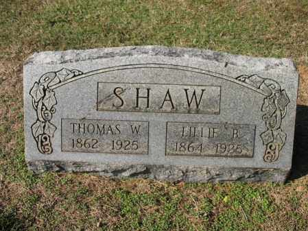 SHAW, LILLIE B - Cross County, Arkansas | LILLIE B SHAW - Arkansas Gravestone Photos