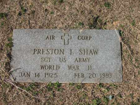 SHAW (VETERAN WWII), PRESTON LEON - Cross County, Arkansas | PRESTON LEON SHAW (VETERAN WWII) - Arkansas Gravestone Photos