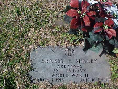 SHELBY  (VETERAN  WWII), ERNEST E - Cross County, Arkansas | ERNEST E SHELBY  (VETERAN  WWII) - Arkansas Gravestone Photos