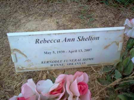 SHELTON, REBECCA ANN - Cross County, Arkansas | REBECCA ANN SHELTON - Arkansas Gravestone Photos
