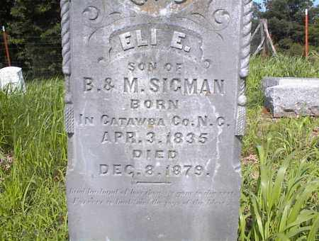 SIGMAN, ELI E - Cross County, Arkansas | ELI E SIGMAN - Arkansas Gravestone Photos