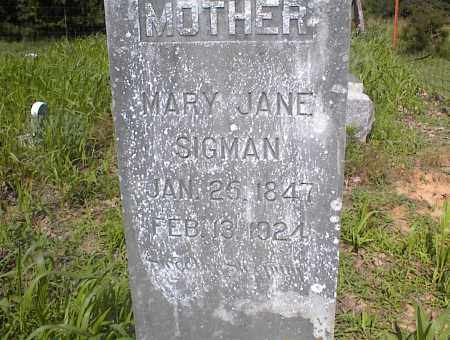 SIGMAN, MARY JANE - Cross County, Arkansas | MARY JANE SIGMAN - Arkansas Gravestone Photos