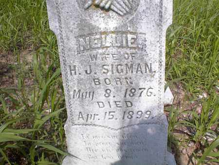 SIGMAN, NELLIE - Cross County, Arkansas | NELLIE SIGMAN - Arkansas Gravestone Photos