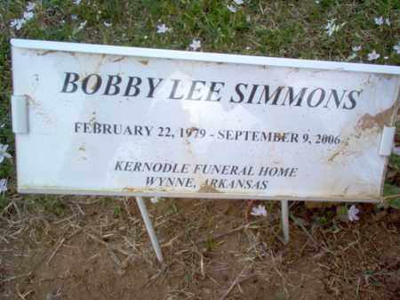 SIMMONS, BOBBY LEE - Cross County, Arkansas | BOBBY LEE SIMMONS - Arkansas Gravestone Photos