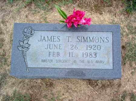 SIMMONS, JAMES T - Cross County, Arkansas | JAMES T SIMMONS - Arkansas Gravestone Photos