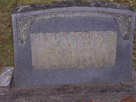 SIMMONS, LILLIAN - Cross County, Arkansas | LILLIAN SIMMONS - Arkansas Gravestone Photos