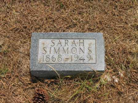 SIMMONS, SARAH - Cross County, Arkansas | SARAH SIMMONS - Arkansas Gravestone Photos
