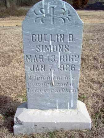 SIMONS, CULLIN B - Cross County, Arkansas | CULLIN B SIMONS - Arkansas Gravestone Photos