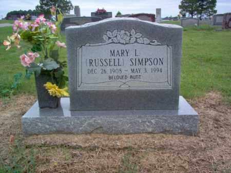 RUSSELL SIMPSON, MARY L - Cross County, Arkansas | MARY L RUSSELL SIMPSON - Arkansas Gravestone Photos