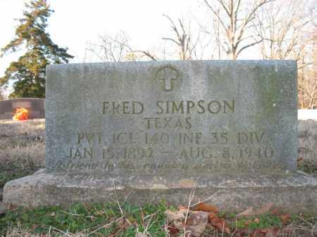SIMPSON (VETERAN), FRED - Cross County, Arkansas | FRED SIMPSON (VETERAN) - Arkansas Gravestone Photos