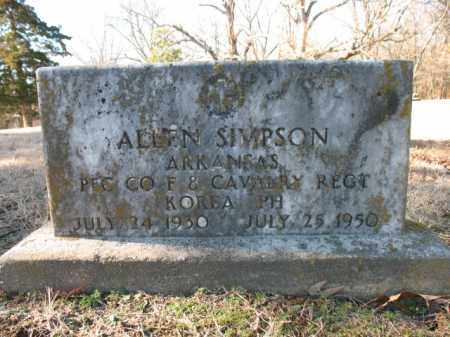 SIMPSON (VETERAN KOR, KIA), ALLEN - Cross County, Arkansas | ALLEN SIMPSON (VETERAN KOR, KIA) - Arkansas Gravestone Photos