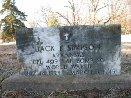SIMPSON (VETERAN WWII), JACK F - Cross County, Arkansas | JACK F SIMPSON (VETERAN WWII) - Arkansas Gravestone Photos