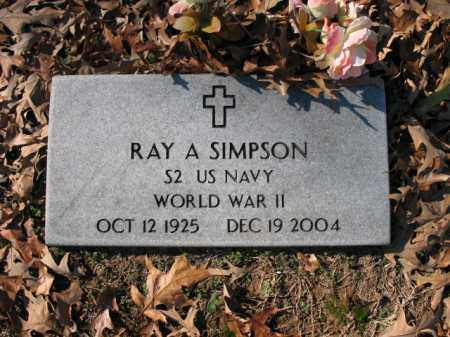SIMPSON (VETERAN WWII), RAY A - Cross County, Arkansas | RAY A SIMPSON (VETERAN WWII) - Arkansas Gravestone Photos