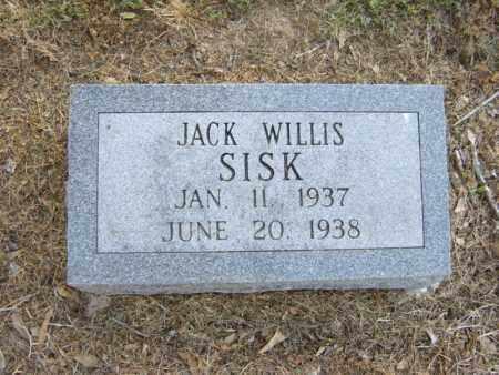 SISK, JACK WILLIS - Cross County, Arkansas | JACK WILLIS SISK - Arkansas Gravestone Photos