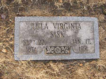 SISK, LULA VIRGINIA - Cross County, Arkansas | LULA VIRGINIA SISK - Arkansas Gravestone Photos