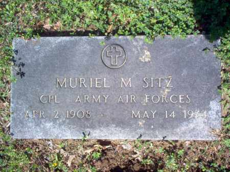 SITZ (VETERAN), MURIEL M - Cross County, Arkansas | MURIEL M SITZ (VETERAN) - Arkansas Gravestone Photos