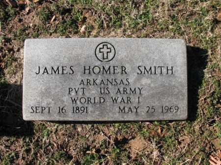 SMITH (VETERAN WWI), JAMES HOMER - Cross County, Arkansas | JAMES HOMER SMITH (VETERAN WWI) - Arkansas Gravestone Photos