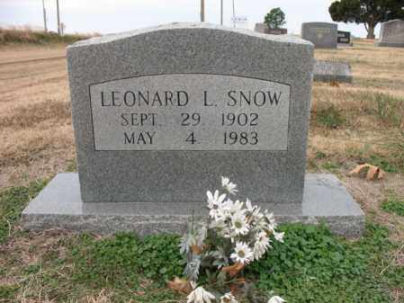 SNOW, LEONARD L - Cross County, Arkansas | LEONARD L SNOW - Arkansas Gravestone Photos