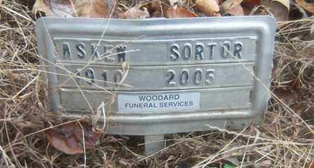SORTER, ASKEW - Cross County, Arkansas | ASKEW SORTER - Arkansas Gravestone Photos