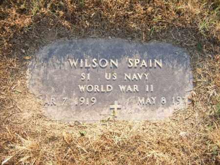 SPAIN (VETERAN WWII), WILSON - Cross County, Arkansas | WILSON SPAIN (VETERAN WWII) - Arkansas Gravestone Photos