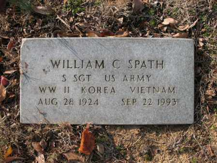 SPATH (VETERAN 3 WARS), WILLIAM C - Cross County, Arkansas | WILLIAM C SPATH (VETERAN 3 WARS) - Arkansas Gravestone Photos