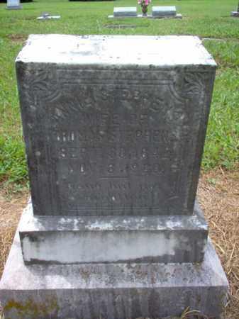 STEPHENS, ANNIE - Cross County, Arkansas   ANNIE STEPHENS - Arkansas Gravestone Photos
