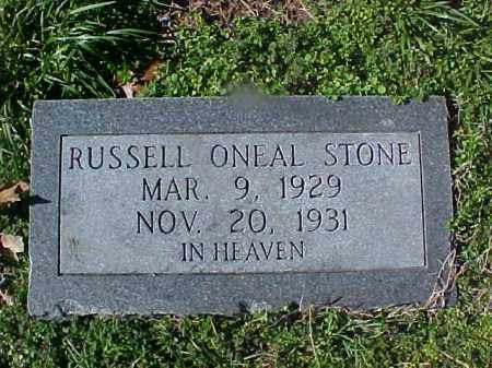 STONE, RUSSELL ONEAL - Cross County, Arkansas | RUSSELL ONEAL STONE - Arkansas Gravestone Photos