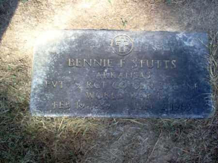 STUTTS  (VETERAN WWI), BENNIE F - Cross County, Arkansas | BENNIE F STUTTS  (VETERAN WWI) - Arkansas Gravestone Photos