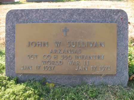 SULLIVAN (VETERAN WWII), JOHN W - Cross County, Arkansas | JOHN W SULLIVAN (VETERAN WWII) - Arkansas Gravestone Photos