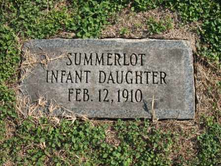 SUMMERLOT, DAUGHTER - Cross County, Arkansas | DAUGHTER SUMMERLOT - Arkansas Gravestone Photos