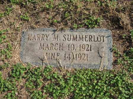 SUMMERLOT, HARRY M - Cross County, Arkansas | HARRY M SUMMERLOT - Arkansas Gravestone Photos