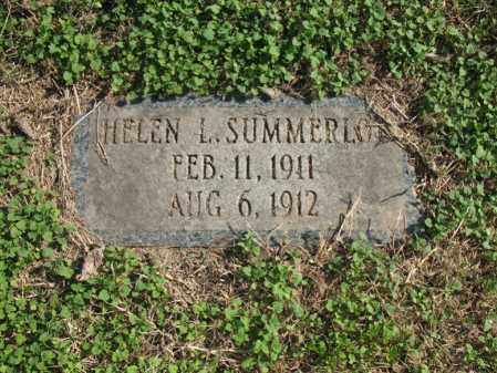 SUMMERLOT, HELEN L - Cross County, Arkansas | HELEN L SUMMERLOT - Arkansas Gravestone Photos