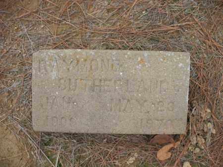 SUTHERLAND, RAYMOND - Cross County, Arkansas | RAYMOND SUTHERLAND - Arkansas Gravestone Photos