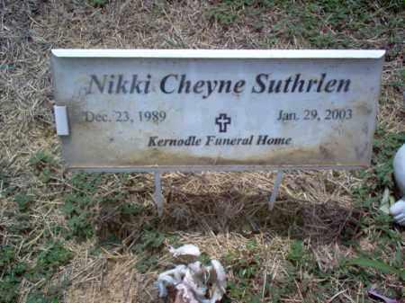 SUTHRLEN, NIKKI CHEYNE - Cross County, Arkansas | NIKKI CHEYNE SUTHRLEN - Arkansas Gravestone Photos