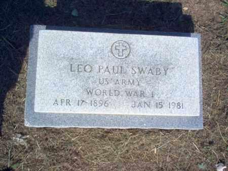 SWABY (VETERAN WWI), LEO PAUL - Cross County, Arkansas | LEO PAUL SWABY (VETERAN WWI) - Arkansas Gravestone Photos