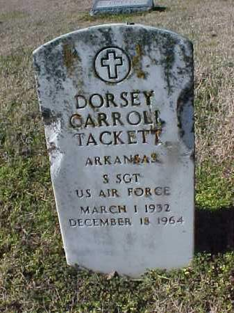 TACKETT  (VETERAN), DORSEY CARROLL - Cross County, Arkansas | DORSEY CARROLL TACKETT  (VETERAN) - Arkansas Gravestone Photos