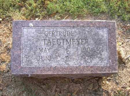 TAEGTMEYER, GERTRUDE L - Cross County, Arkansas | GERTRUDE L TAEGTMEYER - Arkansas Gravestone Photos