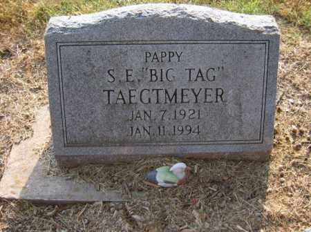 "TAEGTMEYER, S E ""BIG TAG"" - Cross County, Arkansas 
