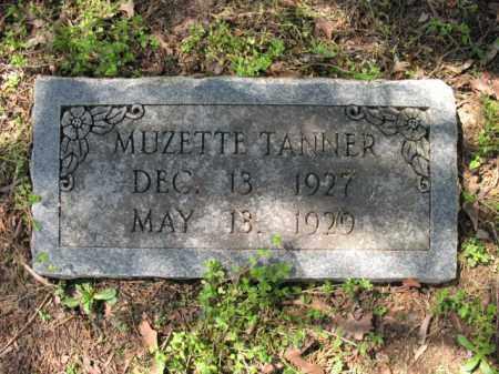 TANNER, MUZETTE - Cross County, Arkansas | MUZETTE TANNER - Arkansas Gravestone Photos