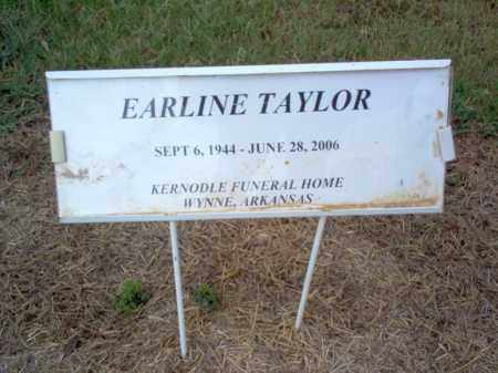 TAYLOR, EARLINE - Cross County, Arkansas | EARLINE TAYLOR - Arkansas Gravestone Photos