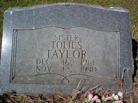 TAYLOR, TOLIES - Cross County, Arkansas | TOLIES TAYLOR - Arkansas Gravestone Photos