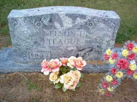 TEAGUE, NELSON D - Cross County, Arkansas | NELSON D TEAGUE - Arkansas Gravestone Photos