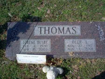 BUSBY THOMAS, LORENE - Cross County, Arkansas | LORENE BUSBY THOMAS - Arkansas Gravestone Photos