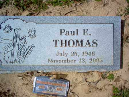 THOMAS, PAUL E - Cross County, Arkansas | PAUL E THOMAS - Arkansas Gravestone Photos