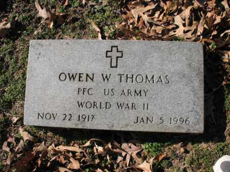 THOMAS (VETERAN WWII), OWEN W - Cross County, Arkansas | OWEN W THOMAS (VETERAN WWII) - Arkansas Gravestone Photos