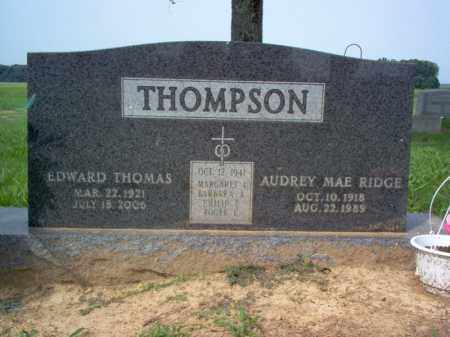 RIDGE THOMPSON, AUDREY MAE - Cross County, Arkansas | AUDREY MAE RIDGE THOMPSON - Arkansas Gravestone Photos
