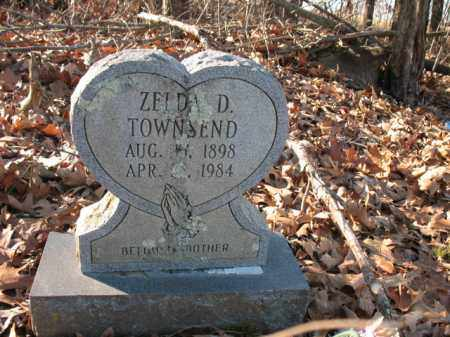 TOWNSEND, ZELDA D - Cross County, Arkansas | ZELDA D TOWNSEND - Arkansas Gravestone Photos
