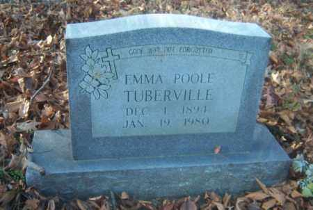 POOLE TUBERVILLE, EMMA - Cross County, Arkansas | EMMA POOLE TUBERVILLE - Arkansas Gravestone Photos