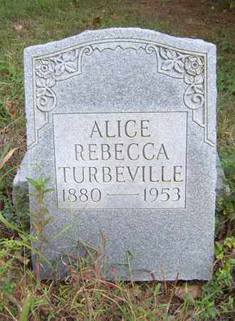 TURBEVILLE, ALICE REBECCA - Cross County, Arkansas | ALICE REBECCA TURBEVILLE - Arkansas Gravestone Photos